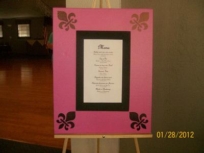 Display of Menu