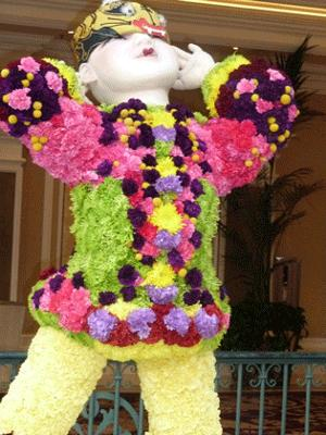 Close up of flower costume