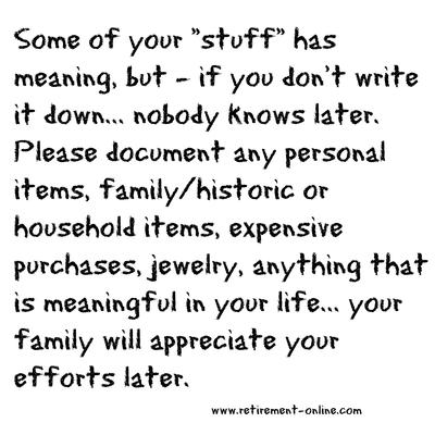 Document Your Stuff.. it's so important!