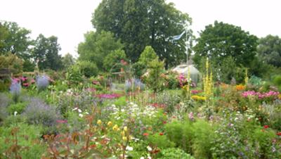 herbal and flower garden of nuns on Frauenchiemsee