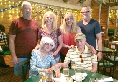 Birthday Dinner: Lorri and John (left), Terry and Wendy (right), Jennie and Chuck (my parents at the bottom).