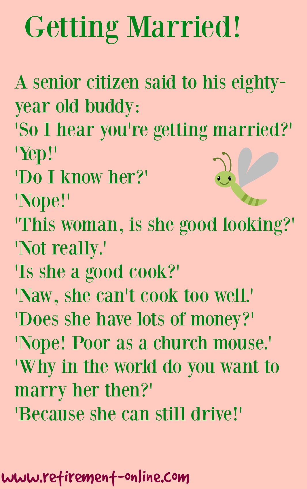 Retirement Jokes Hearing Problems Memory Loss And Marriage