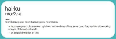 Haiku definition